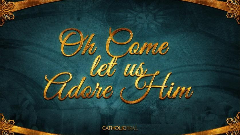 13 Thrilling Christmas Carols - HD Christmas Wallpapers - Carol Oh Come Let Us Adore Him