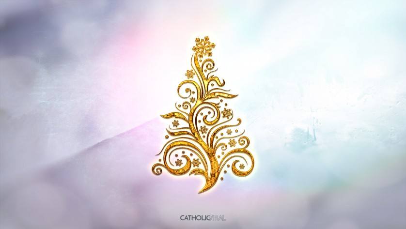 14 Fantastic Christmas Icons - HD Christmas Wallpapers - Golden Christmas Tree
