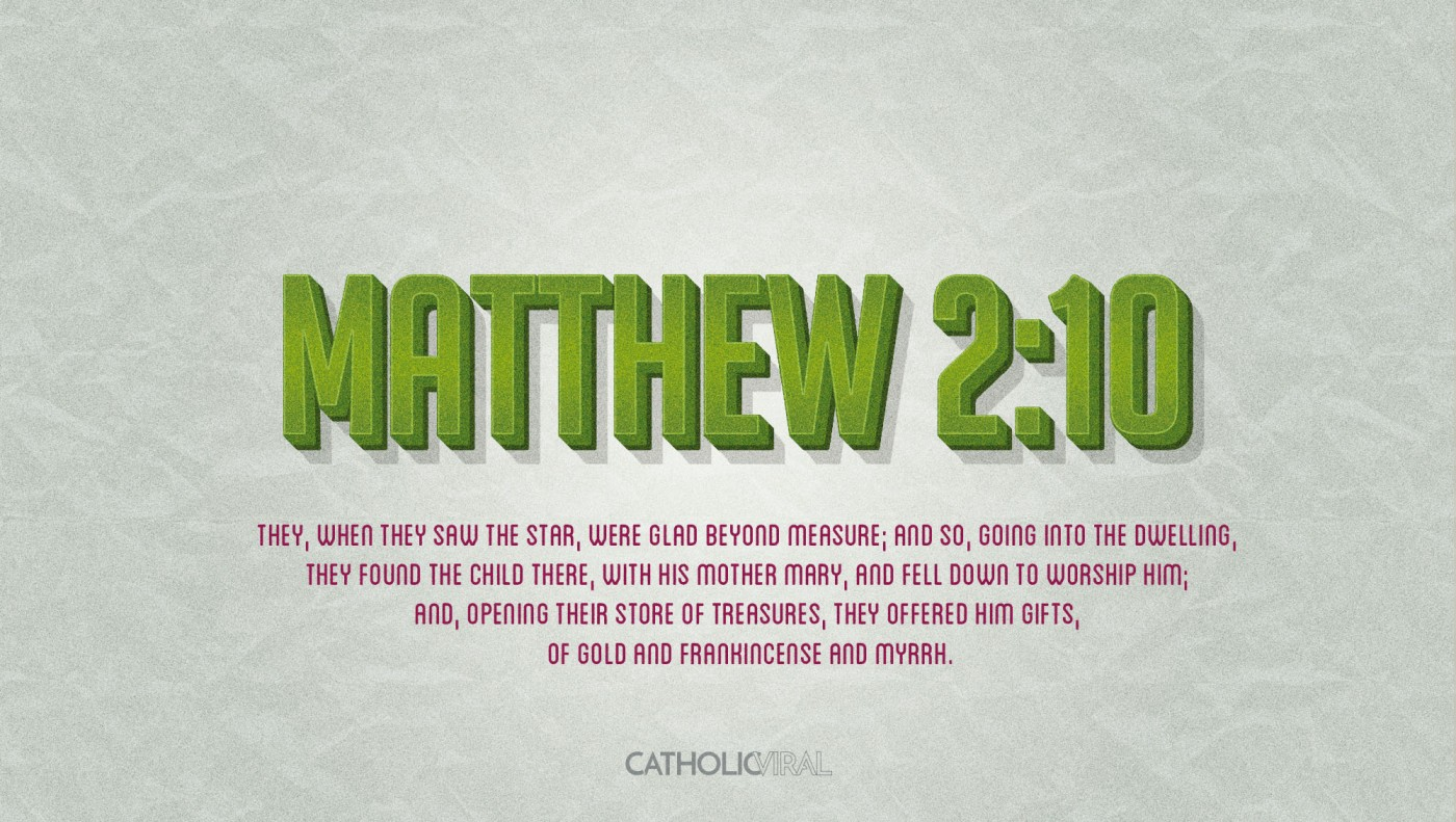 8 Vintage Verses from Scripture about the Nativity- HD Christmas Wallpapers - Matthew 2:10