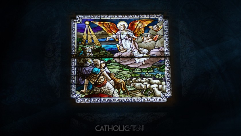 17 Stunning Stained-Glass Windows of the Nativity - HD Christmas Wallpapers - The Birth of Christ, Hark - a Heralding Angel!