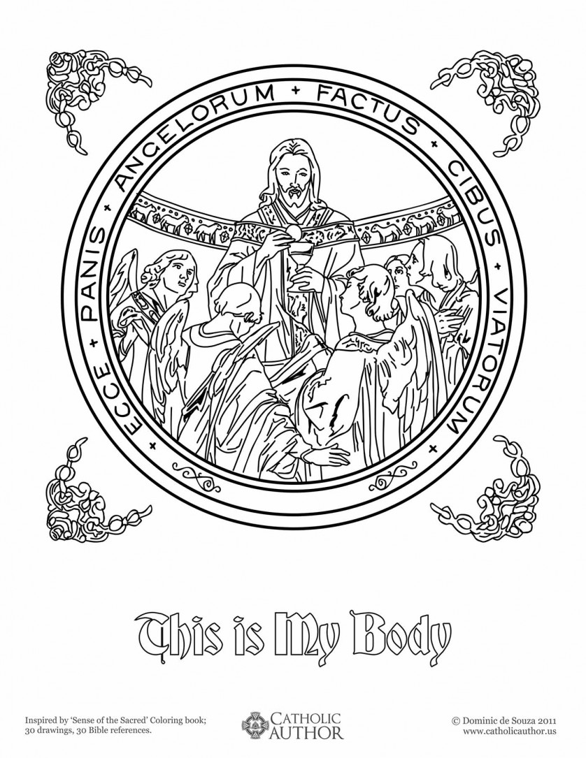 This is My Body - 12 Free Hand-Drawn Catholic Coloring Pictures