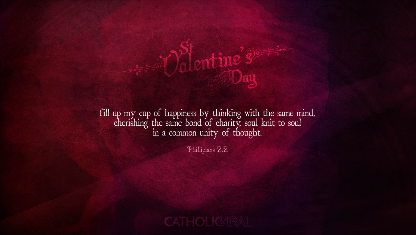 25 Valentines' Day Bible Verses on Love + 25 Free Wallpapers | Phil 2:2