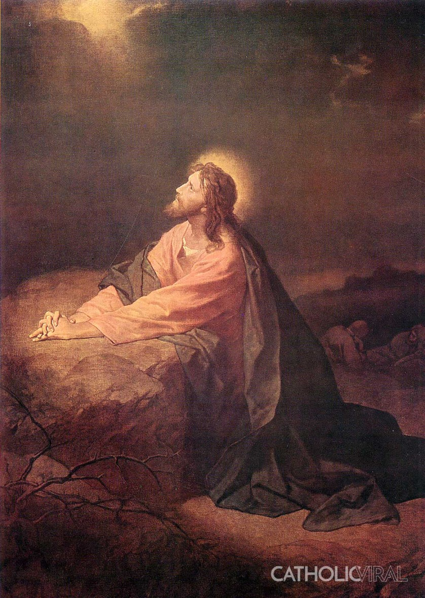 The Agony in the Garden - 54 Paintings of the Passion, Death and Resurrection of Jesus Christ Hoffman