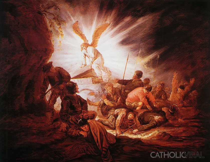 Angel Opening the Tomb - 54 Paintings of the Passion, Death and Resurrection of Jesus Christ