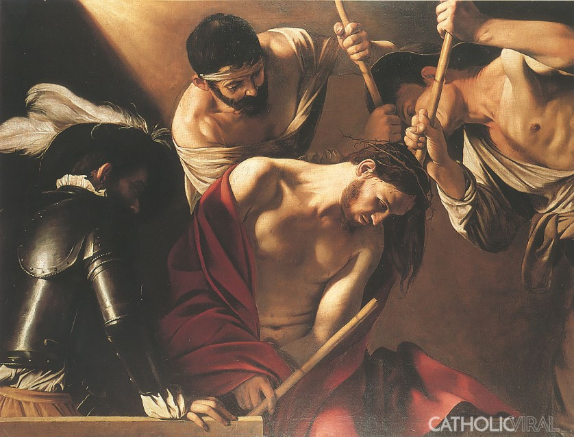 Crown of Thorns - Carravaggio - 54 Paintings of the Passion, Death and Resurrection of Jesus Christ