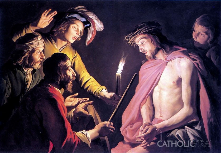 Crown of Thorns - Matteus Stomer - 54 Paintings of the Passion, Death and Resurrection of Jesus Christ