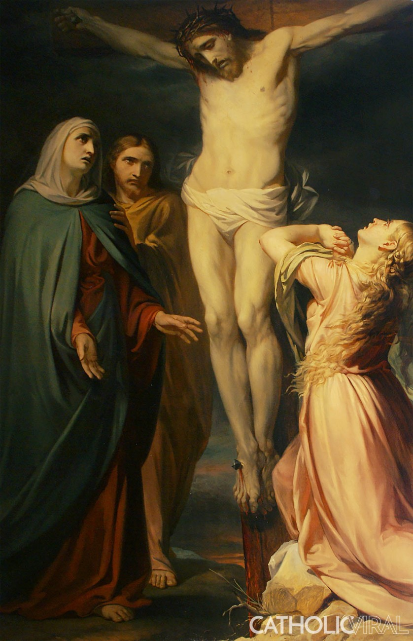 Crucifixion - Jean Baptiste van Eycken - 54 Paintings of the Passion, Death and Resurrection of Jesus Christ