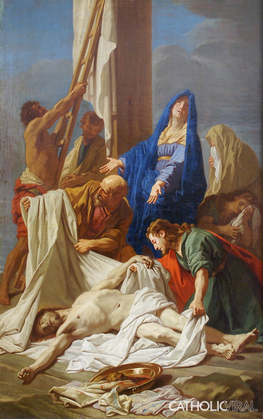 Descent from the Cross - Jean Jouvenet - 54 Paintings of the Passion, Death and Resurrection of Jesus Christ