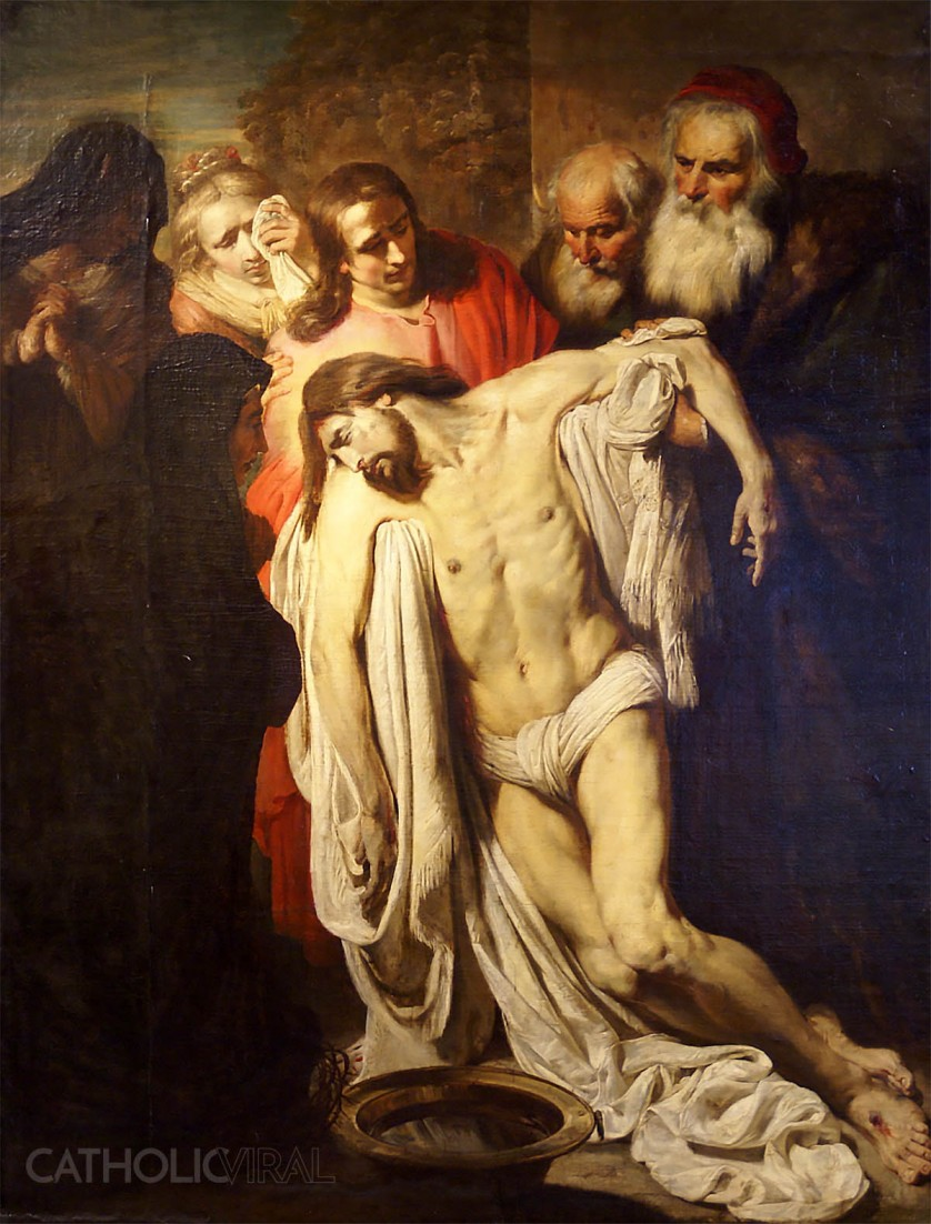 Descent from the Cross - Pieter van Mol - 54 Paintings of the Passion, Death and Resurrection of Jesus Christ