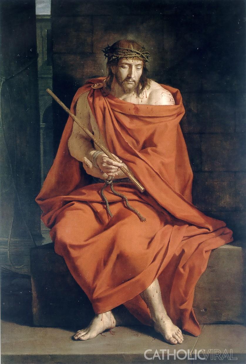 Ecce Homo - Philipe de Champaigne - - 54 Paintings of the Passion, Death and Resurrection of Jesus Christ