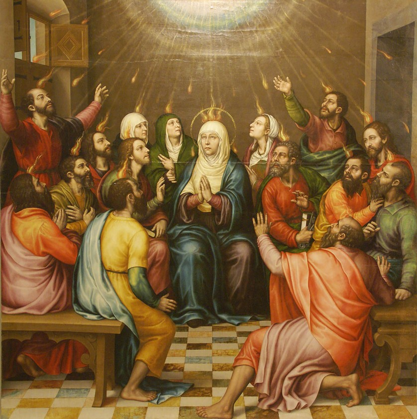 Pentecost - Borras - 54 Paintings of the Passion, Death and Resurrection of Jesus Christ
