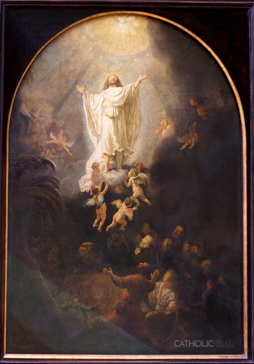 Resurrection - Rembrant - 54 Paintings of the Passion, Death and Resurrection of Jesus Christ
