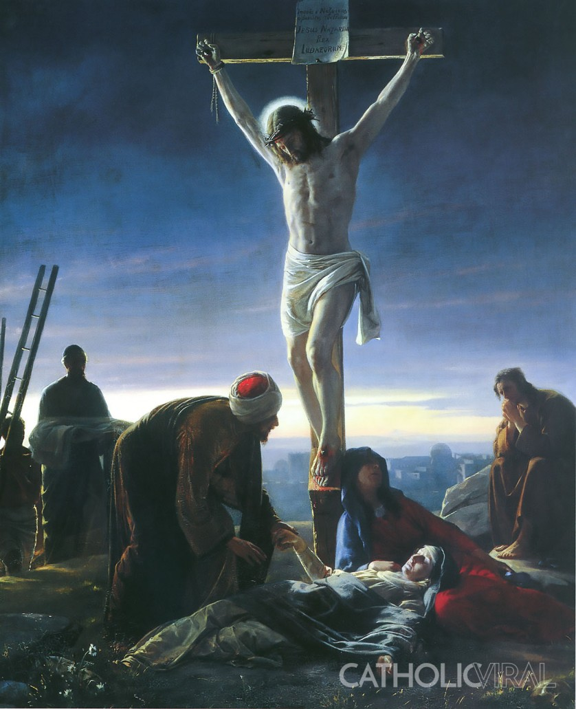 The Crucifixion - Carl Bloch - 54 Paintings of the Passion, Death and Resurrection of Jesus Christ