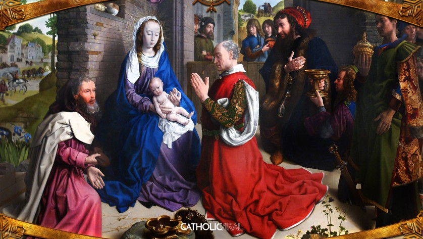 18 Gorgeous Classical Paintings - HD Christmas Wallpapers - The Adoration of the Magi, the 3 Kings in Bethlehem