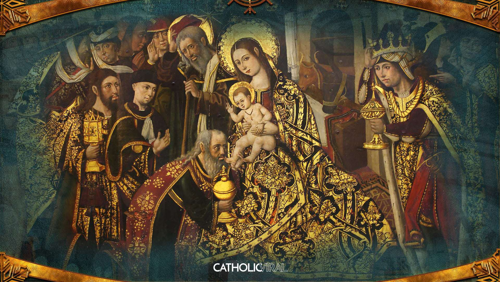 18 gorgeous classical paintings of the nativity hd for Classical mural