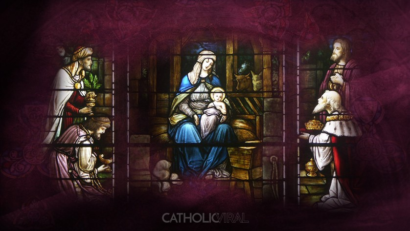 17 Stunning Stained-Glass Windows of the Nativity - HD Christmas Wallpapers - The Birth of Christ, Mary the Christmas Queen