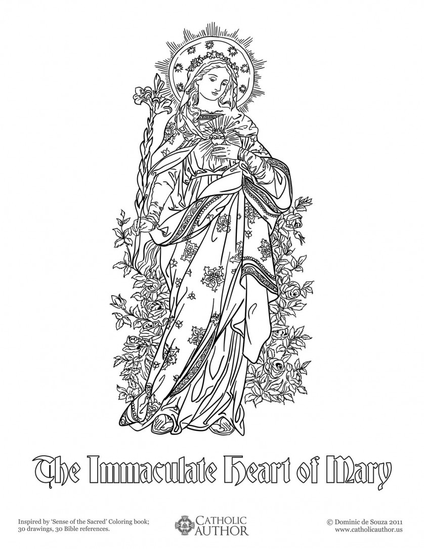 12 Free HandDrawn Catholic Coloring