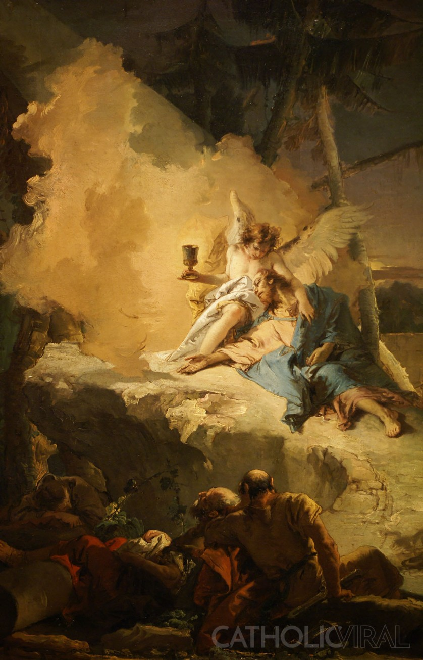 Agony in the Garden - Giovanni Battista Tiepolo - 54 Paintings of the Passion, Death and Resurrection of Jesus Christ