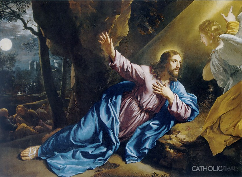 Agony in the Garden - Philippe de Champaigne - 54 Paintings of the Passion, Death and Resurrection of Jesus Christ
