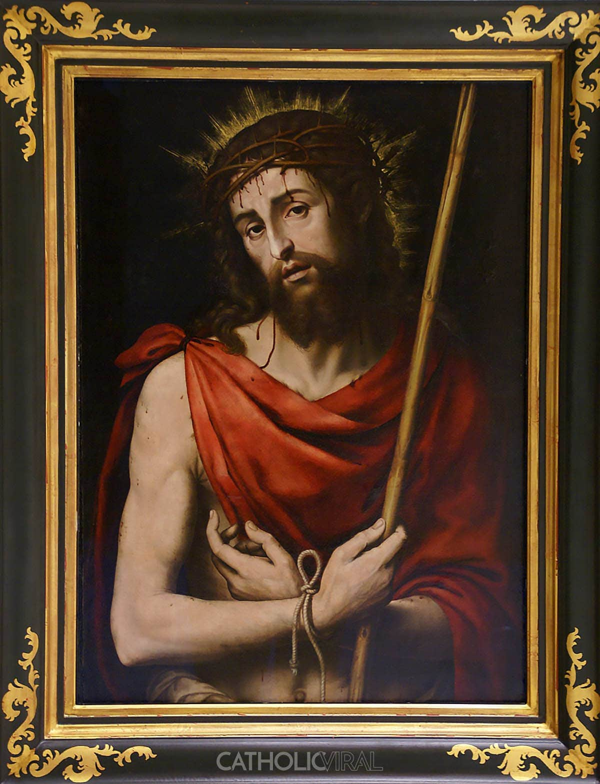 Ecce Homo - Juan de Juanes - 54 Paintings of the Passion, Death and Resurrection of Jesus Christ