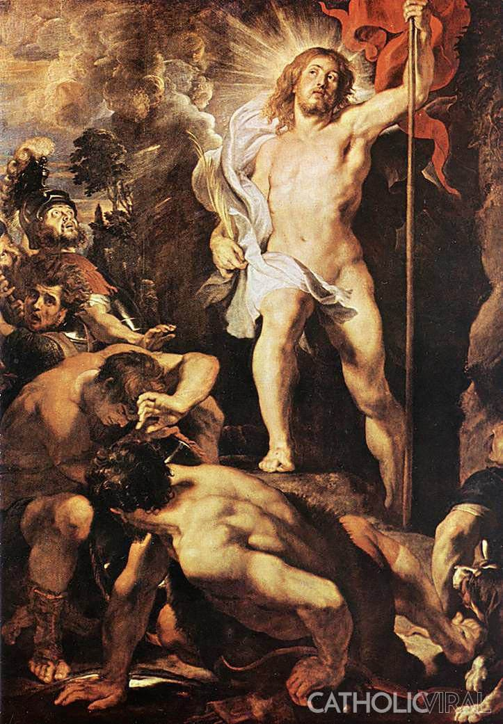 The Resurrection - Rubens - 54 Paintings of the Passion, Death and Resurrection of Jesus Christ