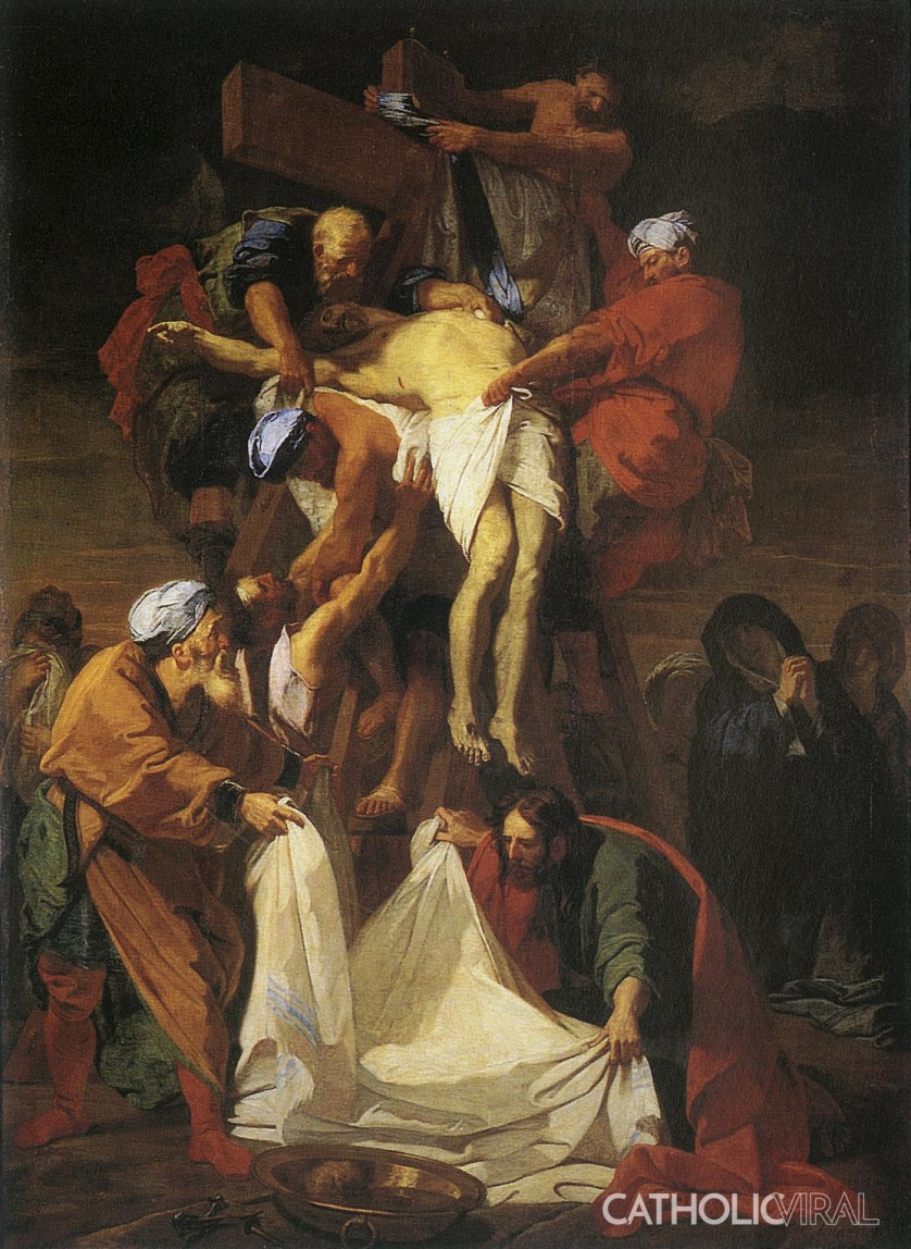 The Taking Down from the Cross - Jean Baptiste Jouvenet - 54 Paintings of the Passion, Death and Resurrection of Jesus Christ